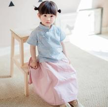 zm30240a 2016 new designs ethnic children clothes traditional hanfu style dresses