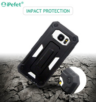 Slim safety armour cell phone cover for galaxy s7 hybrid case
