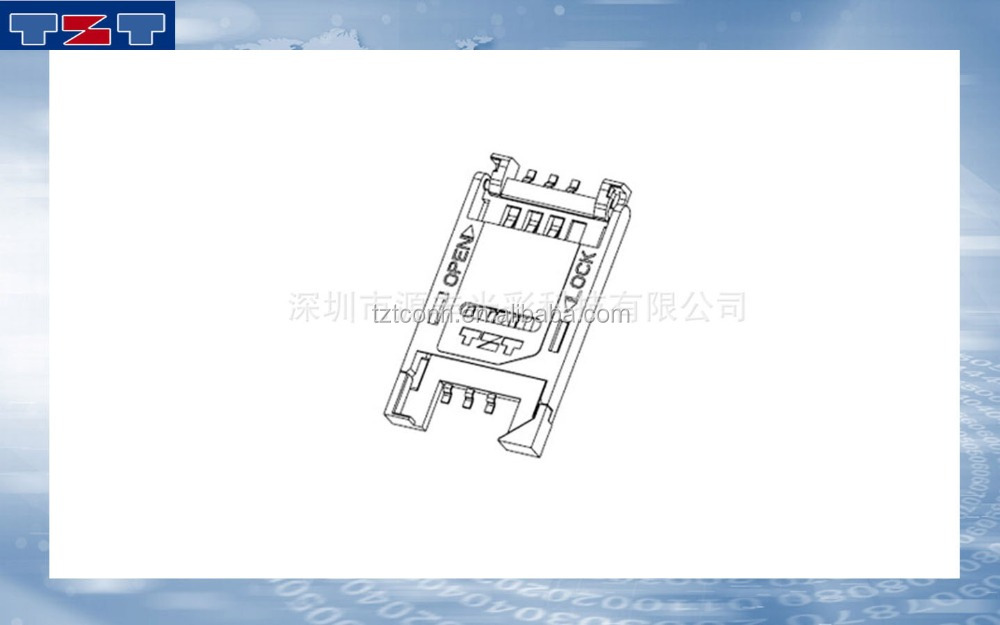 OEM Manufacturing Push Push SIM Card Connector With 10 Years Experience SIM +TF 2IN1 CARD connector