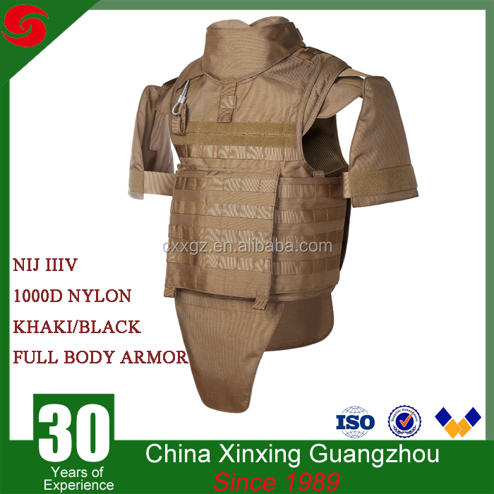 Military Bulletproof Vest NIJ IIIA Full body armor suit