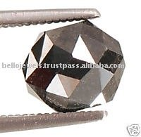 Natural Black Diamond Solitaire Bead