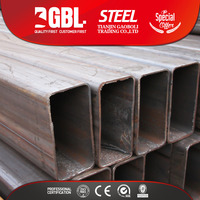 ERW welded rectangular black steel pipe weight per meter