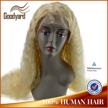 wholesale sewing 26 inch cheap long blonde india remy natural hair wig