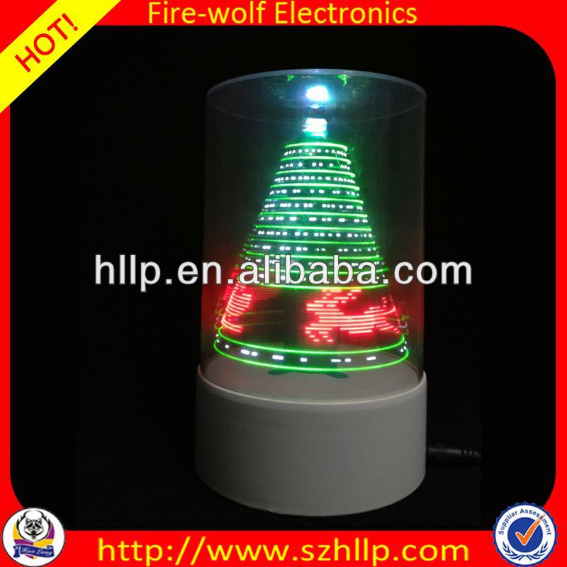 2014 hot sale wholesale led 3D usb picture frame christmas tree ornaments manufacture