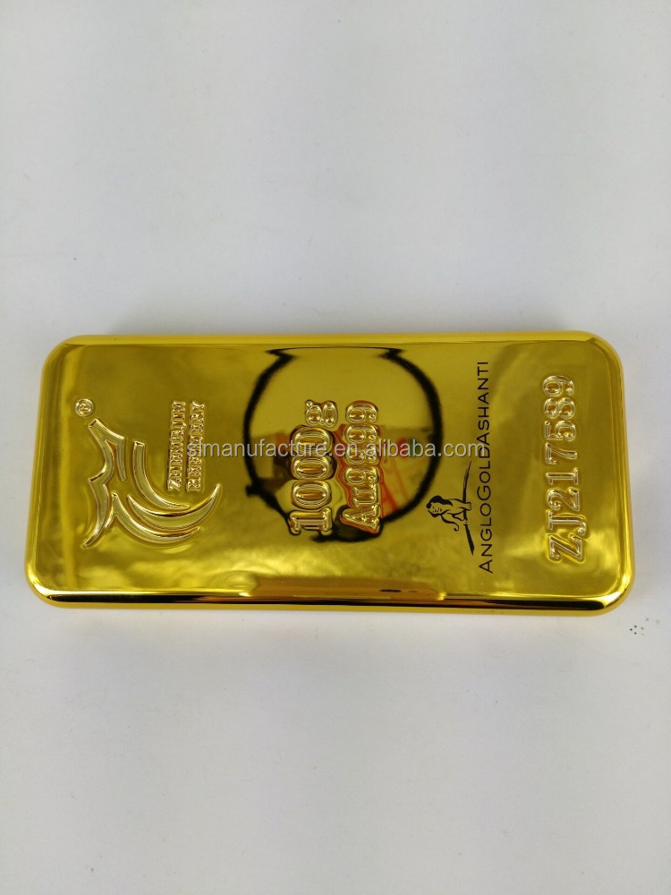 Factory Wholesale gold bar mobile phone charger power bank 2600mah made in china