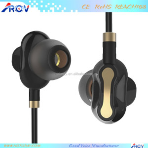 Balanced Armature+Dynamic Hybrid Dual Driver In-ear Earphone HiFi Stereo Headset Monitor Wired Earphone With Mic