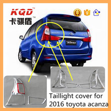 ABS Chrome accessories chrome tail light cover trims for toyota avanza 2016
