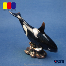 Decorative Resin Whale Figurines Life Size Resin Animal Statue