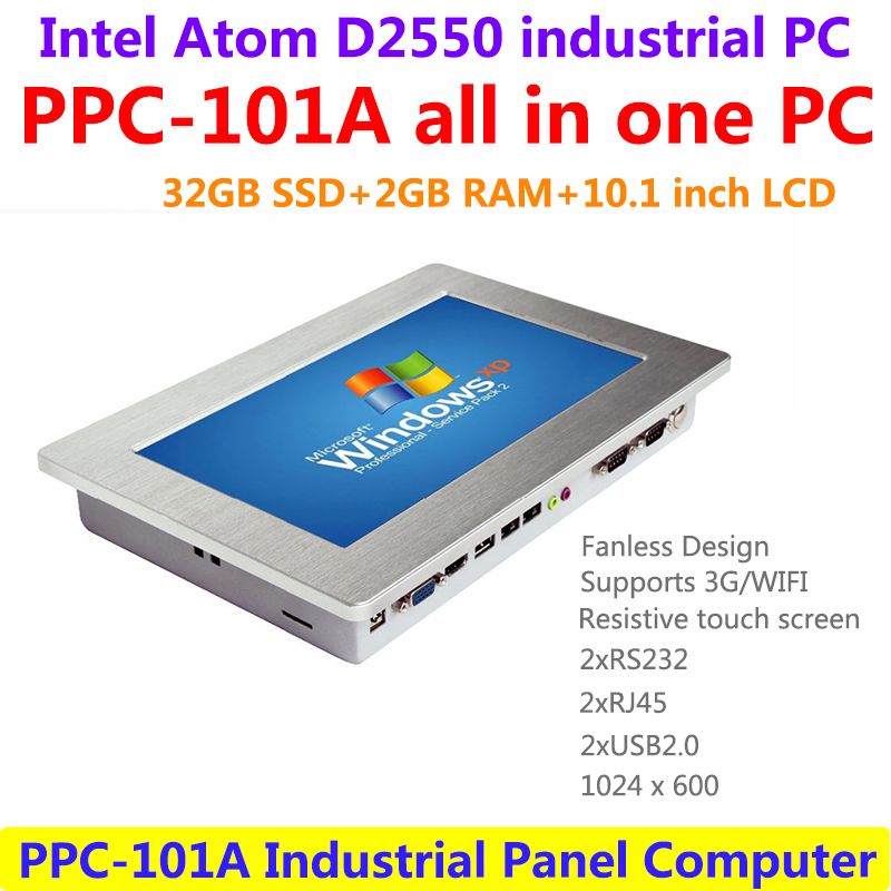 Industrial Touch Panel PC Industrial Computer 10.1 inch Panel All In One PC