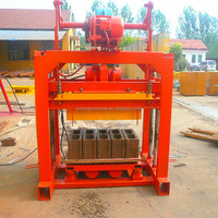 concrete block making machine qt4-40 hollow cheap manual fly ash cement brick making machine