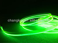 Decoration wire for colthes and bags High Brightness Welted EL wire-grass green