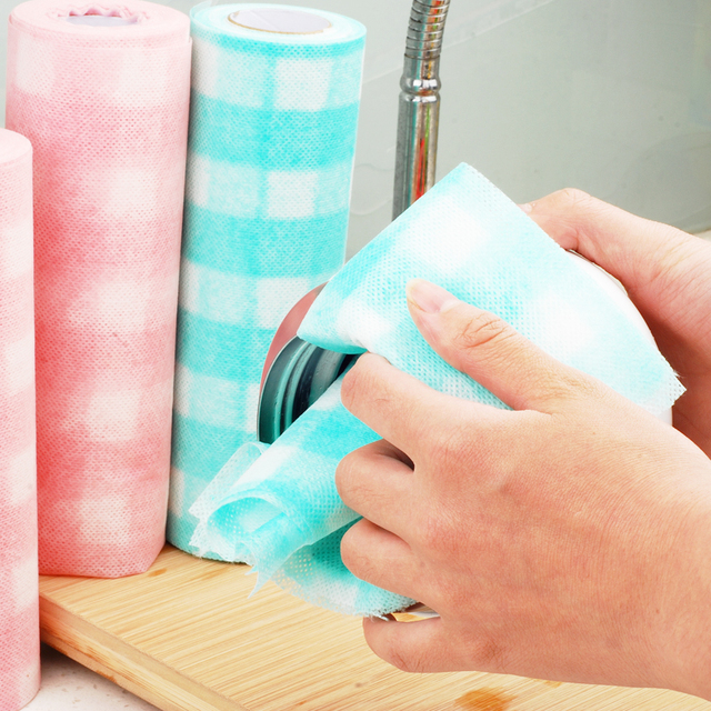Eco friendly biodegradable compostable nonwoven kitchen wiping cloth