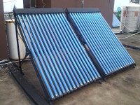 Heat pipe solar collector/air heating system/split pressurized solar water heater
