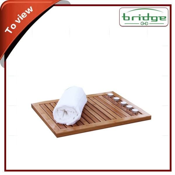 Hot Seller Non Skid Bathroom Bamboo Shower Mat