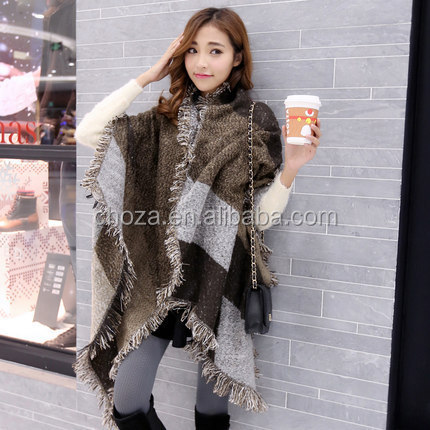 C21788B Women Big Loose Hot Sale Cashmere Fashion Scarves Tassel Scarf