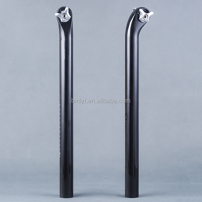 Cycling Parts 5/20 Degree Glossy UD Full Carbon Fiber Seatpost MTB Road Bike Bicycle Seat Post 27.2/30.8/31.6*400mm