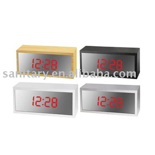 Solar-powered digital clock mirror Multifunctional New Design LD30153