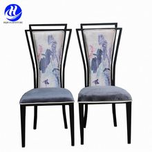 Sturdy steel frame indonesian dining chairs for banquet events furniture