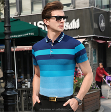 2017 summer men's polo shirts striped polo shirt cotton polo shirt