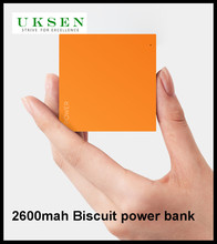 Smallest ultra-thin light weight portable biscuit power bank