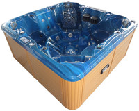 Blue acrylic shell hot tub with sex massage