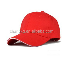 OEM sandwich 6 panel baseball cap,100%cotton high quality baseball caps in China