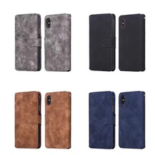 Hot selling Retro PU Leather Case for iPhone X ,for iPhone X Vintage Case Wallet with card slot