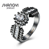 Wholesales Women Vintage Style Princess Cut Crystal Cubic Zirconia Wedding Ring