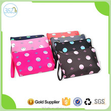 Fashion Design Nylon Travel Wash Hanging Cosmetic Bag with Dot