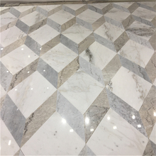 Brown vein black vein grey vein white color marble natural stone