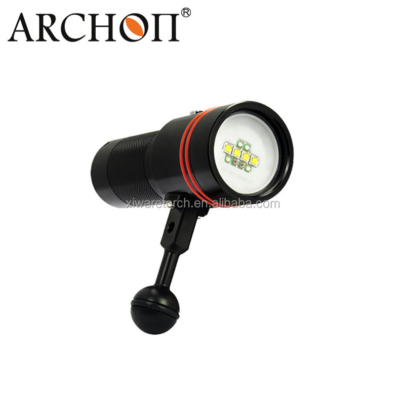 ARCHON W40V 32650 <strong>battery</strong> 4 color scuba diving video lights waterproof video flashlight for photography wide angle beam