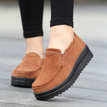 2017 winter warm women doug shoes /middle-aged leather material mother shoes