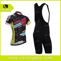 Dazzle color Unique Designed Pro attractive price team riding cycling Tops and Bottom jersey/wear with bib suspender for men