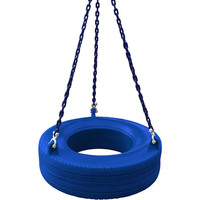 Garden Plastic Tire Swing with Chains