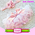Newborn ruffle diaper cover baby cotton bloomers wholesale baby ruffle bloomers with headband