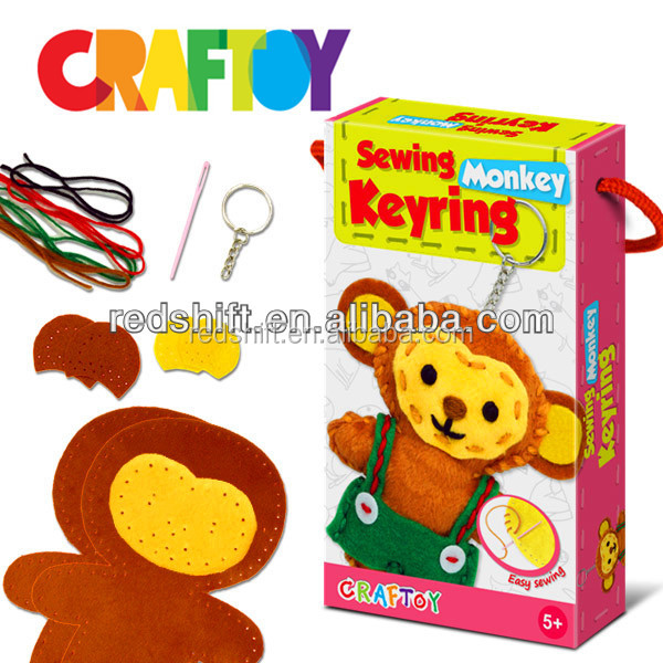 Sewing Monkey Keychain Design your own diy toys