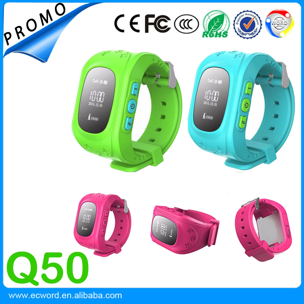 Factory Directly Supply Hot Sale Children Anti-lost GPS Tracker Android Smart Watch Q50 Kids GPS Watch Phone