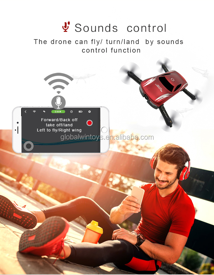 GW186 2017 new foldable mini pocket drone with hd camera by smartphone voice control as Christmas gift vs jy018 low price.jpg