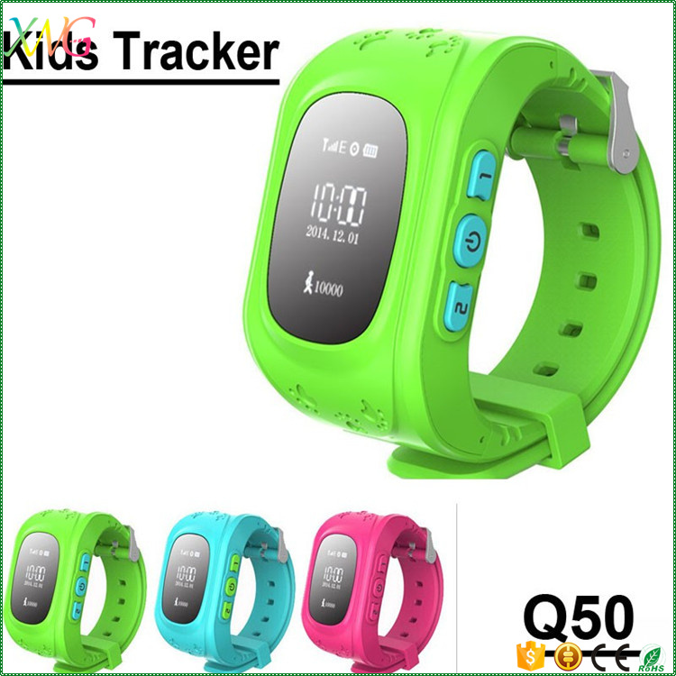 Mobile phone wristband Q50 gps tracker GSM SOS kids smart watch