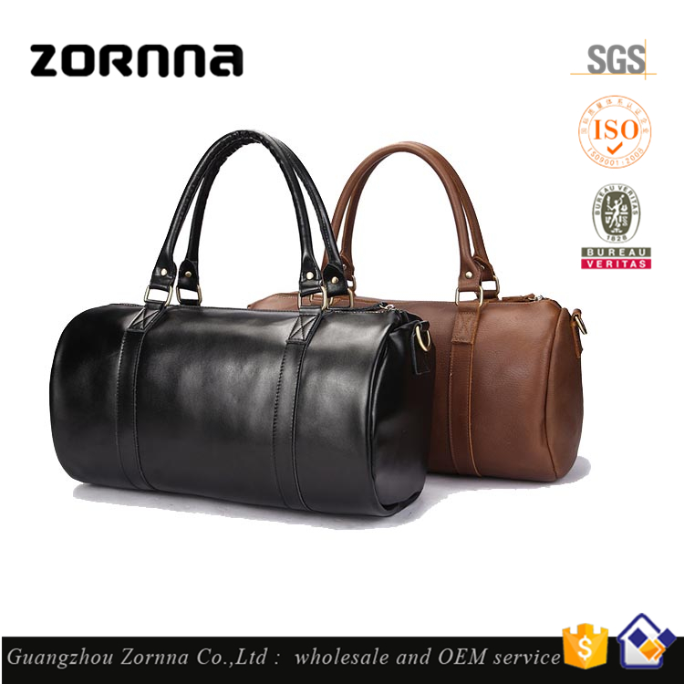 Null Brand Classic Style Genuine Top Layer Cow Leather Duffle Bag Gym Custom