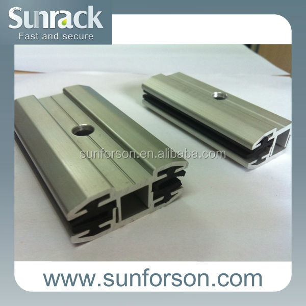 Solar thin film panel clamp/mid/ end clamp BIPV