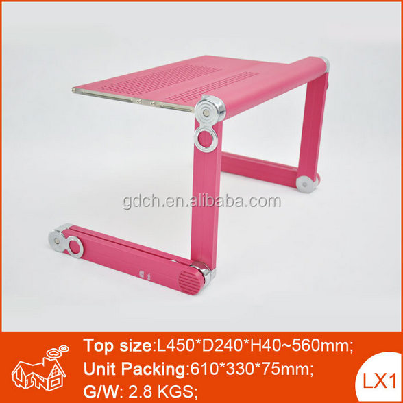 Workstation with 56cm Max. Adjust Height Portable Laptop Table