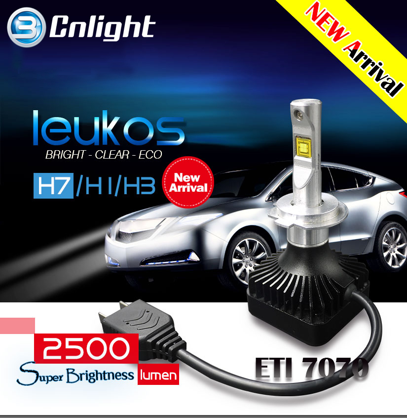 2015 Cnlight Factory LW 2015 high low car led headlight,led headlight kit for Led car headlight LEUKOSH7