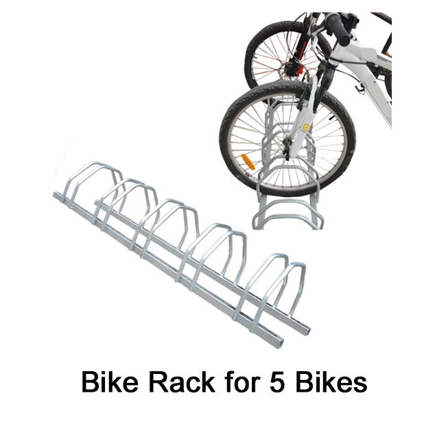Hot Dip Galvanized Floor Mounted Bike Parking Rack Stand