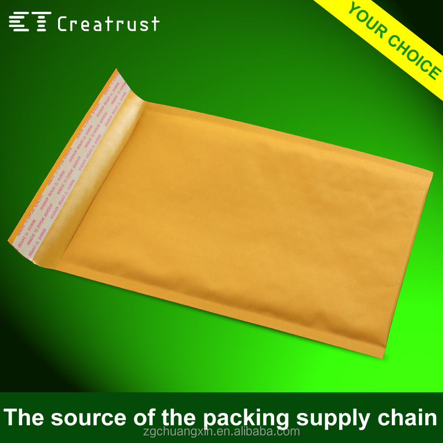 Kraft Bubble Material Bubble Lined Envelopes custom shipping envelope padded