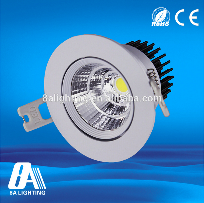 15W dimmable SAA driverless ip44 2 years warranty cob led downlight