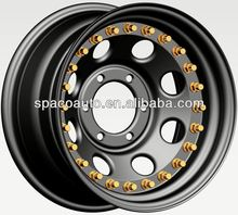 3 pieces 20 inch steel wheels double side beadlock