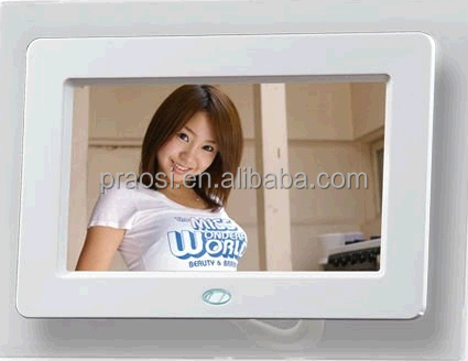 mirror face 7 inch digital picture frame with rechargeable battery and Internal HD videoplayer 720P