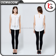 new arrival summer fashionable sexy women sleeveless vest white sweet lace ladies cotton tops designs