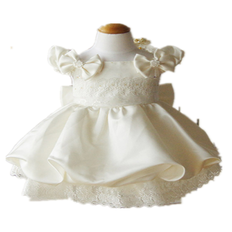 b9c5c37315595 Buy 1 year birthday dress baby girls party christening baptism dress for  wedding flowers first communion dresses for girls 50481 in Cheap Price on  ...